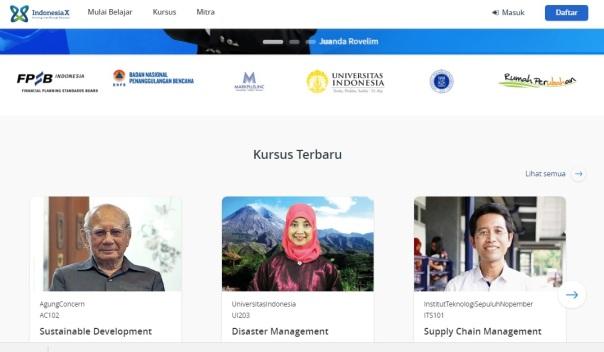 Tampilan IndonesiaX